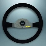 MOMO Model 5 350mm Black Suede Steering Wheel